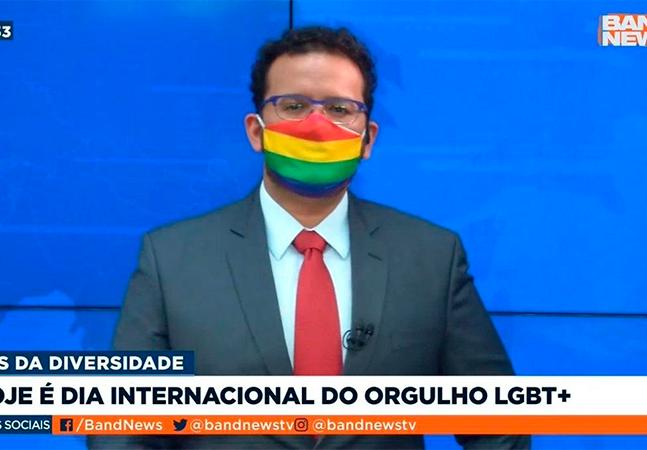 Jornalista da Band aproveita Dia do Orgulho e se assume gay ao vivo