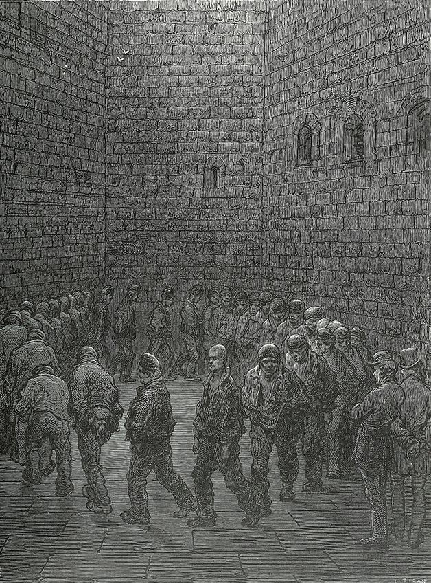 A gravura de Doré na qual Van Gogh se inspirou para o quadro que inspirou a cena de Kubrick