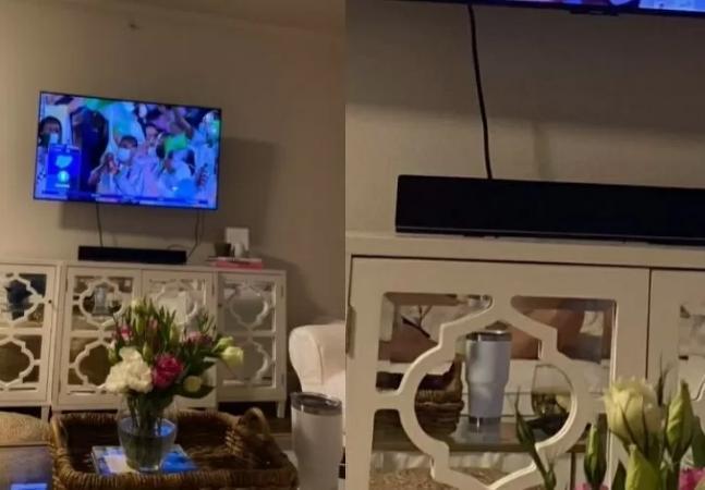 Mulher descobre por reflexo traição de namorado que jurava estar assistindo as Olimpíadas