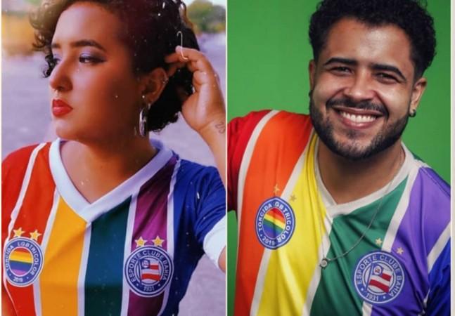 Bahia apresenta camisa LGBTQIA+ com lucro para projeto anti-homofobia