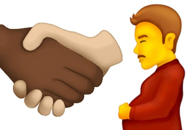 Homem grávido e aperto de mão multirracial são destaques entre emojis novos