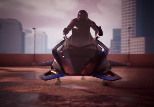 Conheça a moto voadora que pode atingir até 400 km/h