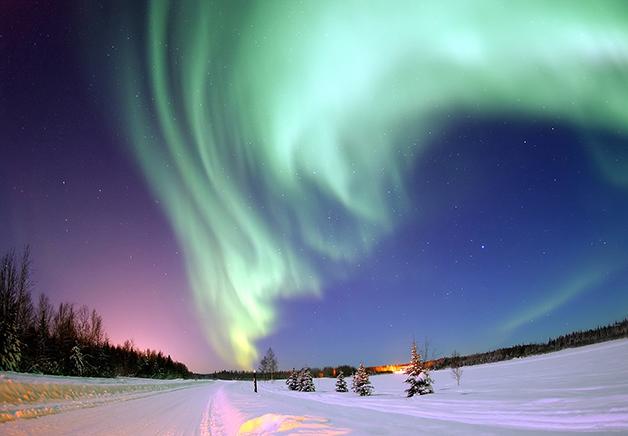 Aurora Boreal registrada no Alaska