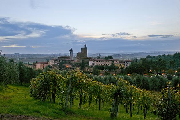 A cidade de Vinci, na Toscana, onde Leonardo nasceu