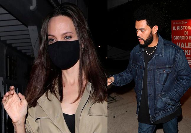 Angelina Jolie e The Weeknd flagrados juntos em jantar rende melhores memes do dia