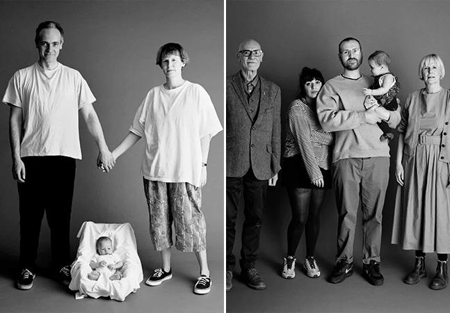 Fotógrafo registra família e passagem do tempo em sessão anual de fotos desde 1991