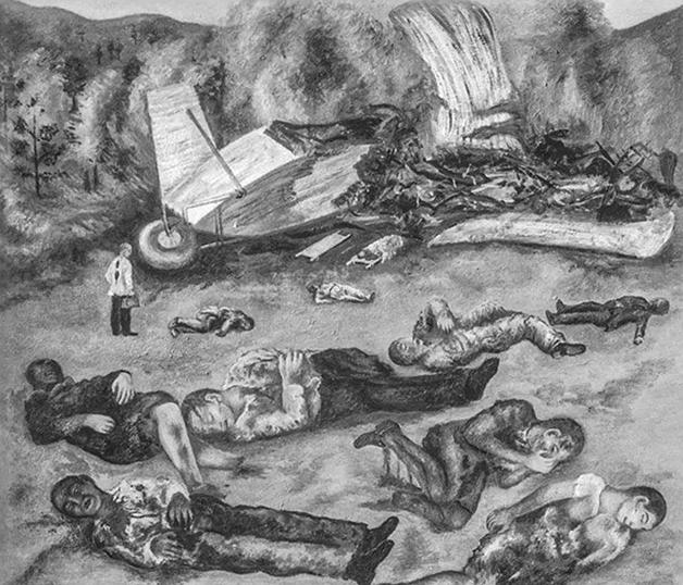 El accidente de aviación, de 1938
