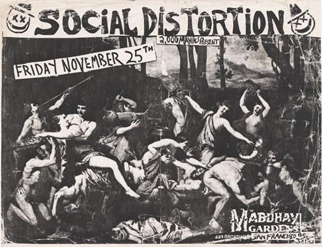 Flyer do show do Social Distortion no Mabuhay Gardens, em San Francisco