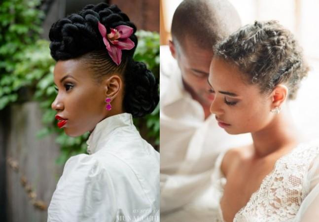 11 penteados para mulheres negras noivas