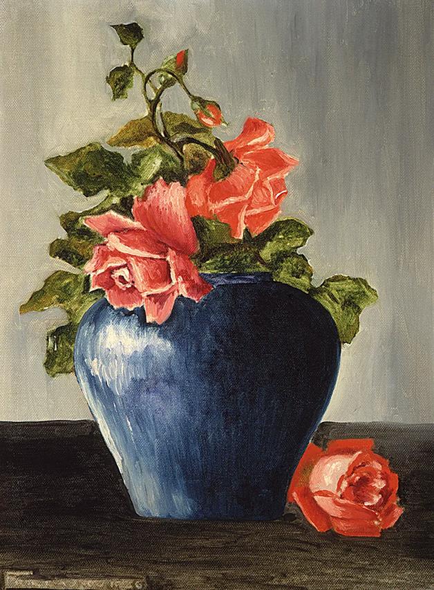 Natureza Morta (com rosas), de 1925