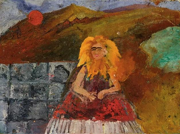 Frida em Chamas (Autorretrato dentro de um girassol), 1953-54