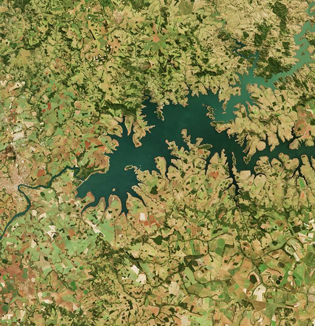 A região do Lago das Brisas, no rio Parnaíba, em registro de 2019