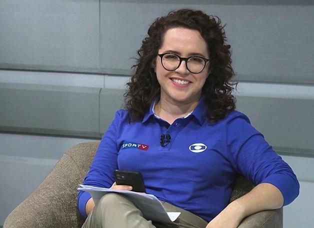 A narradora Natalia Lara, do Sportv