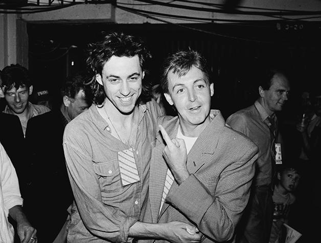 Bob Geldof e Paul McCartney