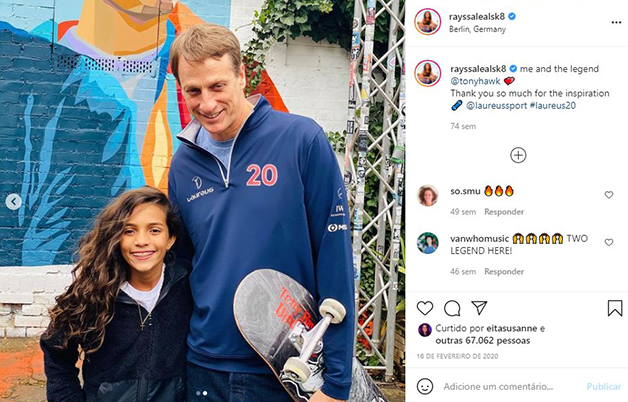 Foto de encontro dois dois na Alemanha em 2020 postada por Rayssa