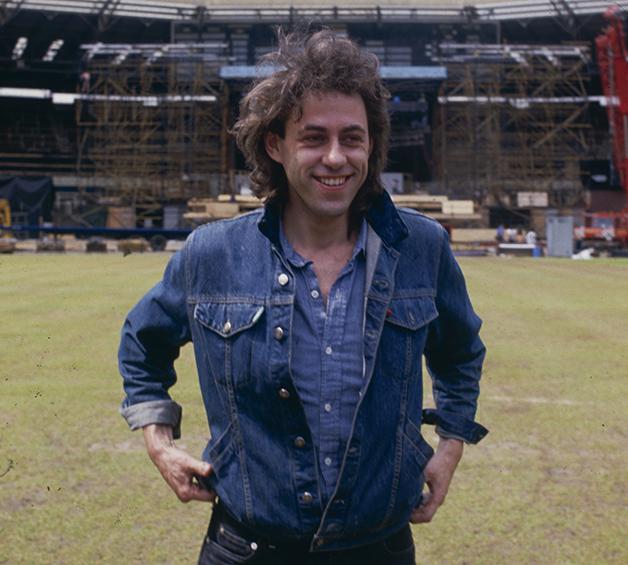 Bob Geldof em Wembley antes do show, em 1985