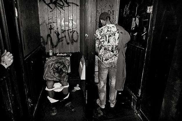 O banheiro do Mab, em 1980