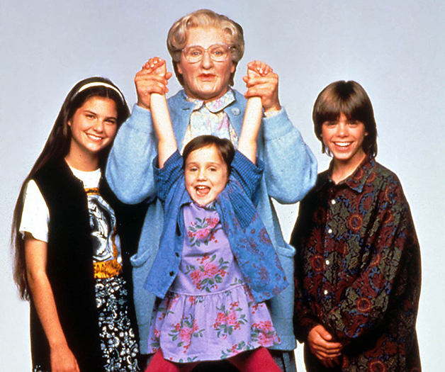 Mara Wilson com Robin Williams