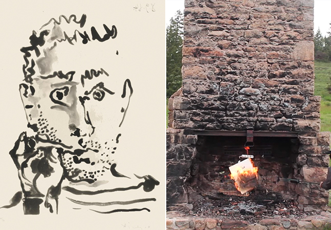 Picasso tem obra original queimada para ser transformada em NFT; veja vídeo