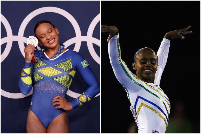 Daiane dos Santos sobre Rebeca Andrade: '1ª medalha olímpica do Brasil é negra'