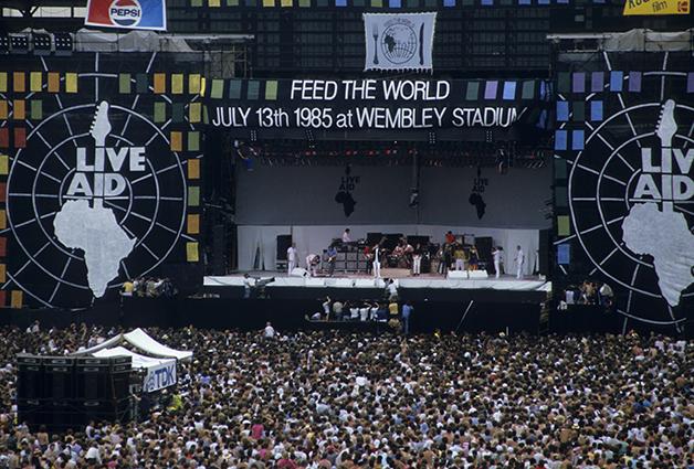 Palco do Live Aid em Londres