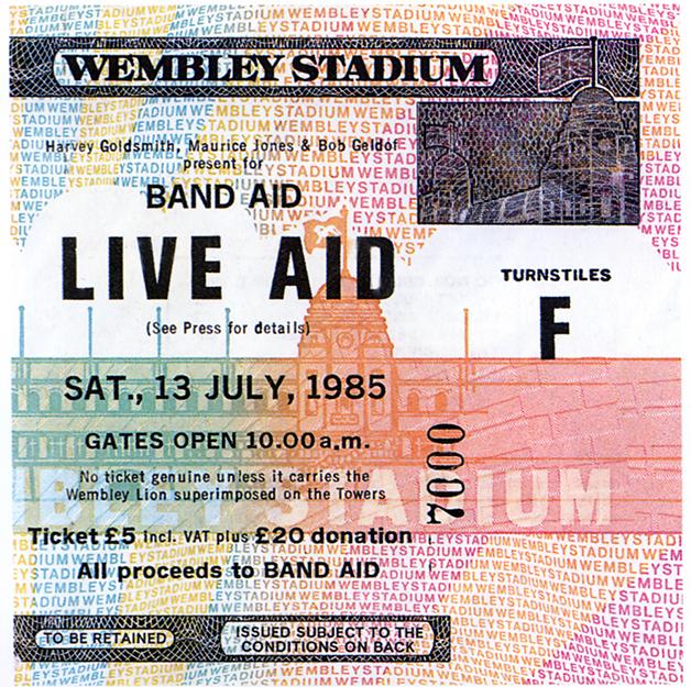 Ingresso do Live Aid