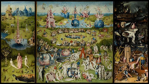 """""""Jardim das Delícias Terrenas"""", de Hieronymous Bosch, quadro possivelmente inspirado nos Andomitas"""