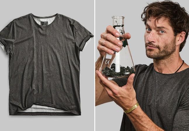 Marca lança camiseta compostável feita a partir de algas