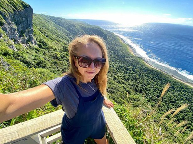 Zoe Stephens em Tonga