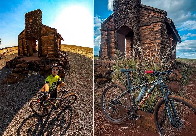 Igreja de pedra descoberta por cicloturistas em milharal se torna atração turística