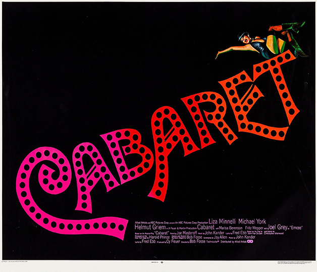 """Cartaz de """"Cabaret"""", estrelado em 1972 por Liza Minelli"""