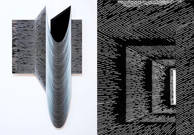 Matemática e arte se misturam nas incríveis ilusões em 3D dos desenhos de Katy Ann Gilmore