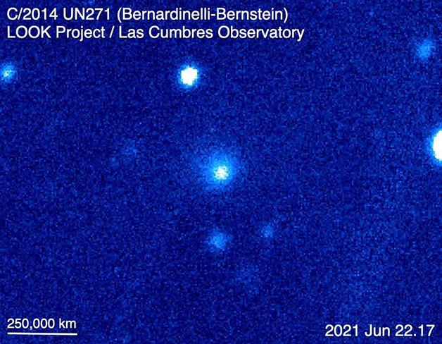 O registro do megacometa no observatório