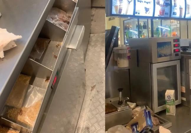 McDonald's diz que 'está apurando' vídeo com baratas em quiosque de sorvete