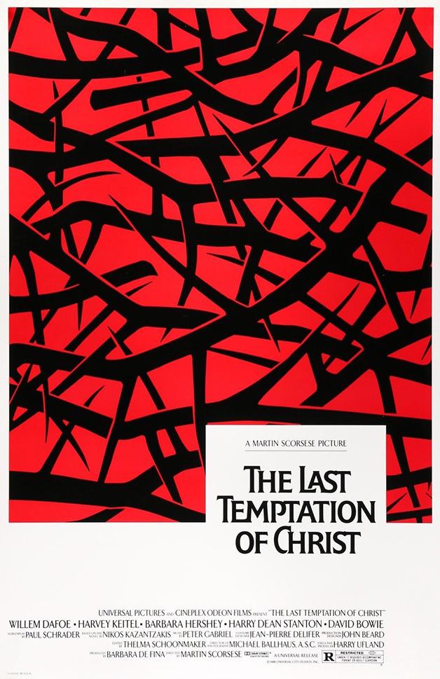 """Pôster de """"A Última Tentação de Cristo"""", de Martin Scorcese"""