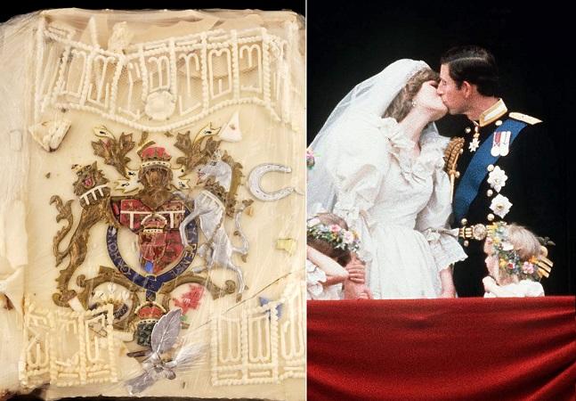 A história do pedaço de bolo do casamento de Diana e Charles vendido em leilão após 40 anos