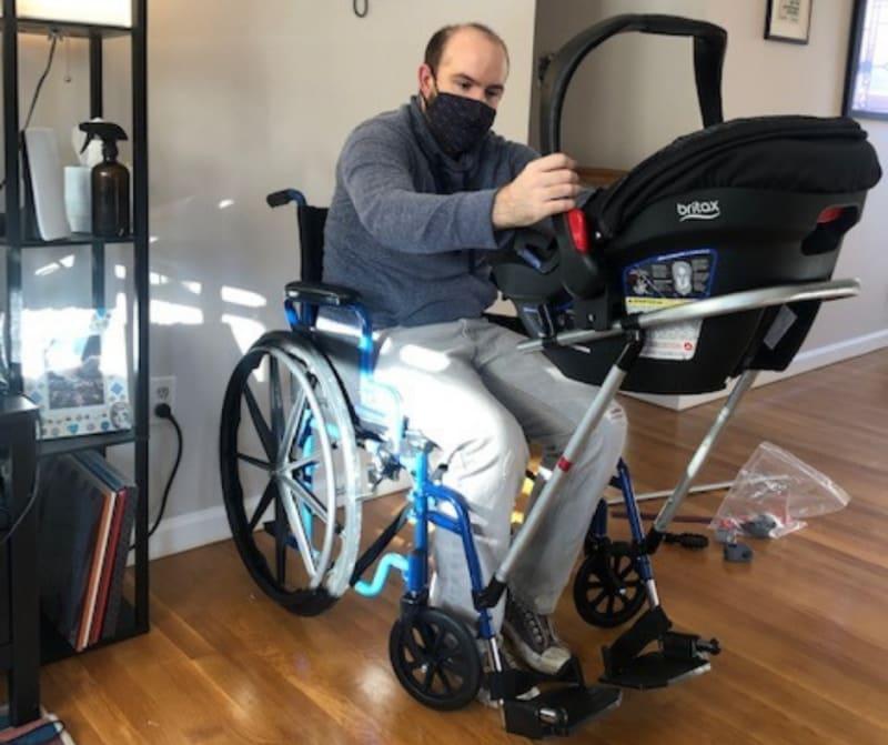 cadeira de rodas, bebê, acessibilidade