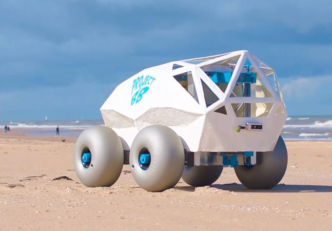Robô é criado para coletar bitucas em praia; tecnologia não substitui civilidade