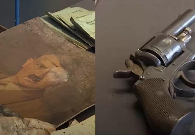 Alemanha: enchente histórica revela foto de Hitler, pistola e outros itens do partido nazista