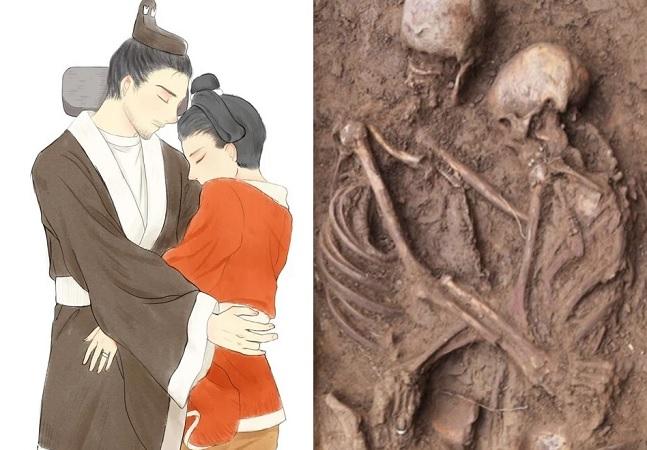 Túmulo de 1500 anos com casal abraçado é encontrado por arqueólogos na China
