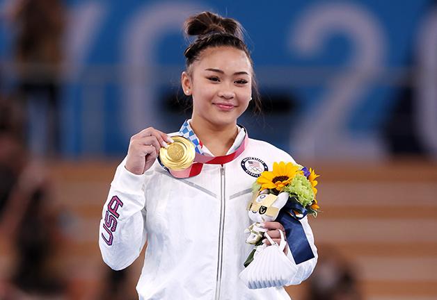 Sunisa Lee e sua medalha de ouro conquistada no sexto dia de Olimpíada