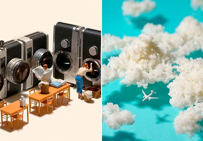 Artista japonês recria a realidade em miniatura com objetos cotidianos e toques poéticos