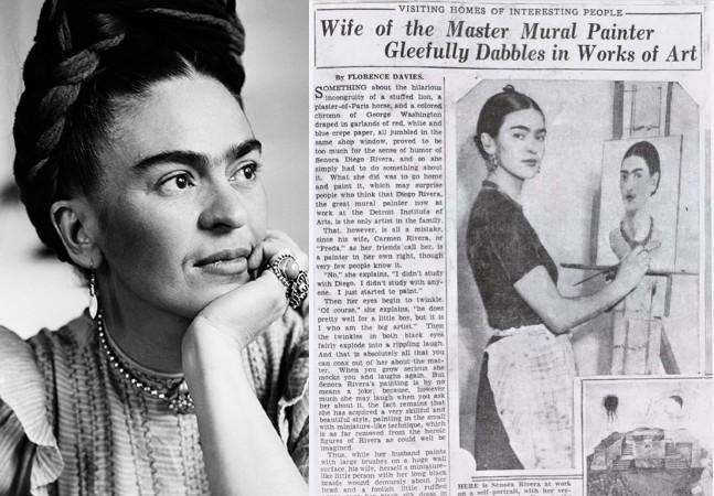 Artigo de 1933 tenta diminuir trabalho de Frida Kahlo, mas ela responde à altura