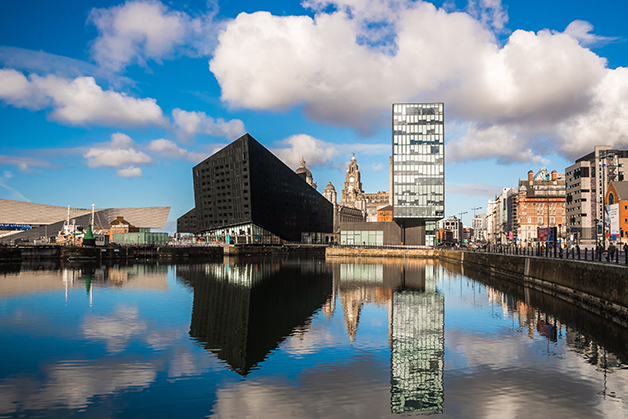 Prédios em Liverpool