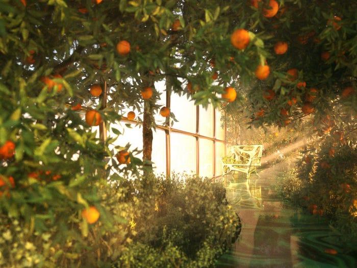 trem de luxo Steve Jobs Gaugain jardim