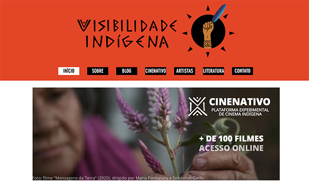 Capa da plataforma onde funciona o Cine Nativo