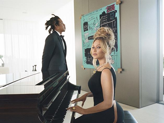 Jay-Z e Beyoncé em campanha para a Tiffany