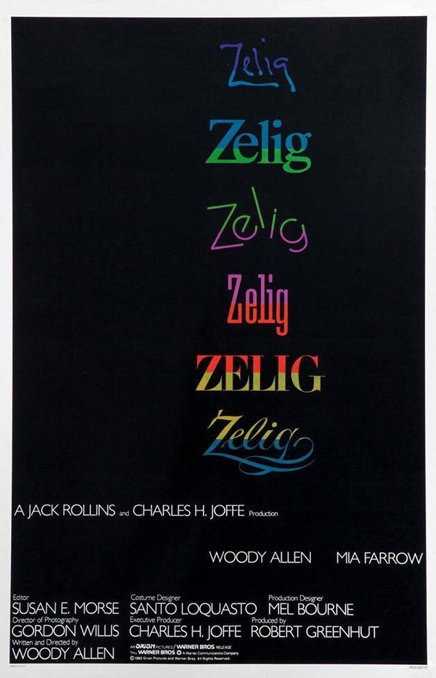 """O pôster de """"Zelig"""", de Woody Allen"""