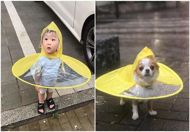 Este protetor em forma de disco voador supera qualquer guarda-chuva