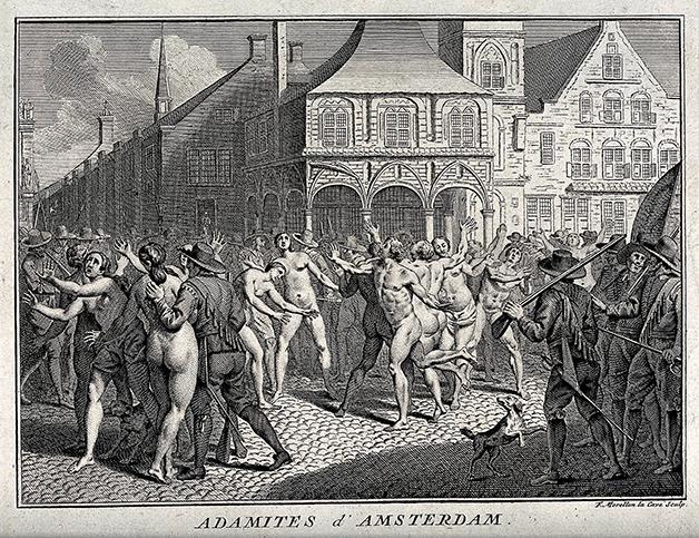 Prisão de grupo neo-adamita em Amsterdam na Idade Média